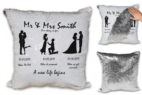 Personalised Mr & Mrs Our Story So Far A New Life Begins